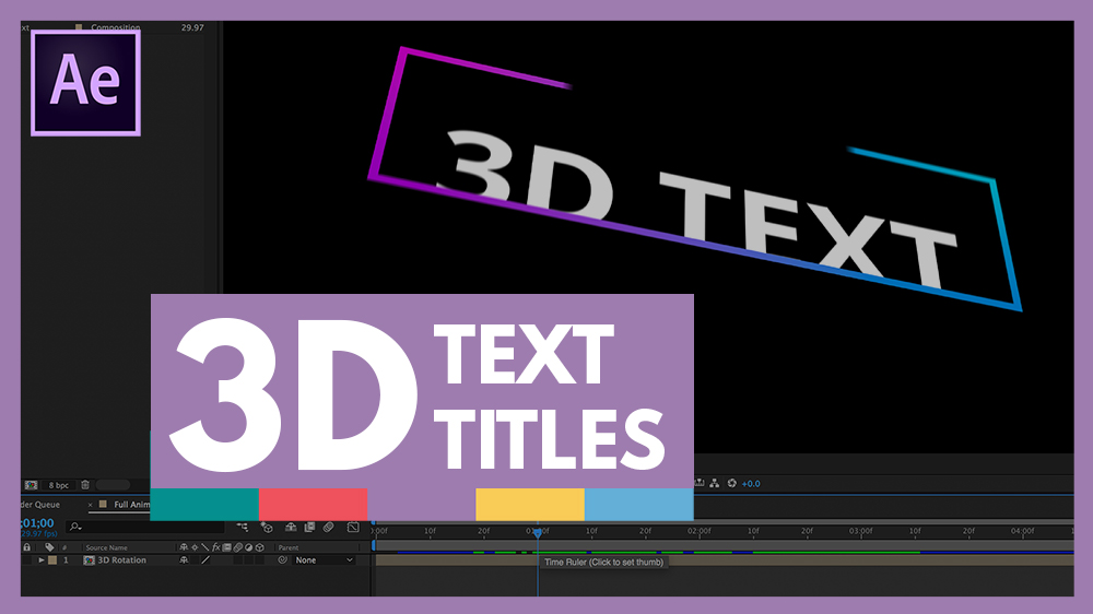 after effects 3d tutorial