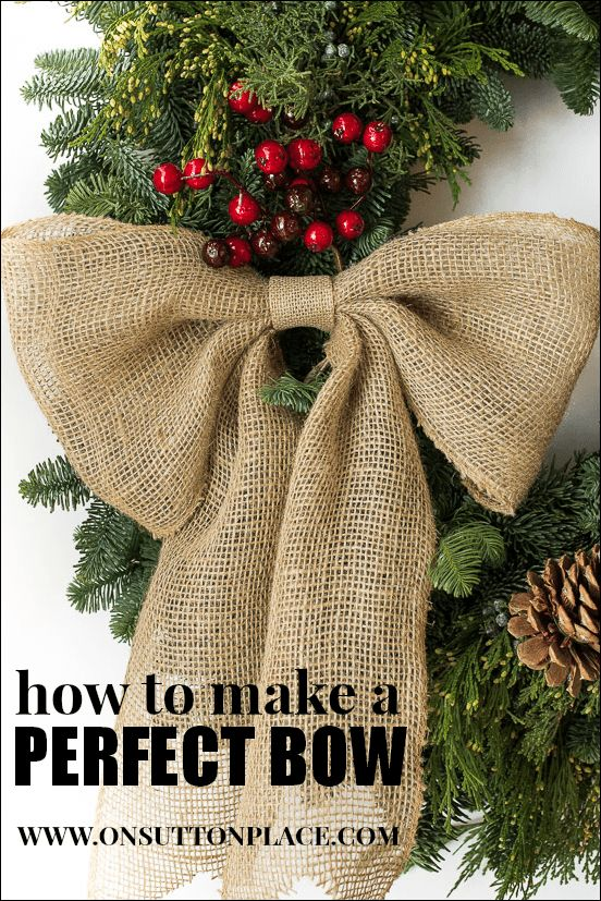 wire ribbon bow tutorial