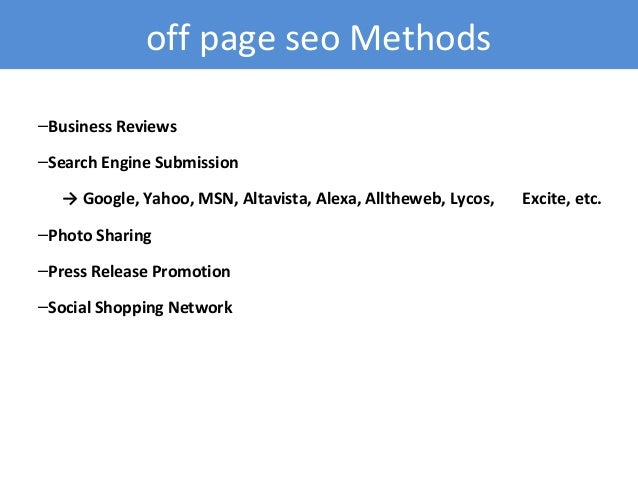 directory submission in seo tutorial