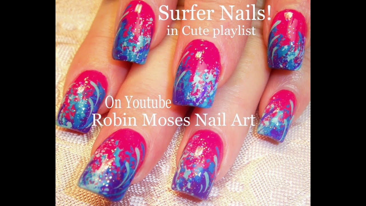 ombre nail tutorial with sponge